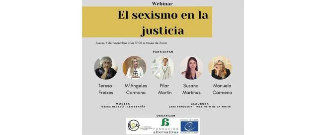 Webinar el sexismo en la justicia